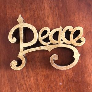 PEACE Gold Sign